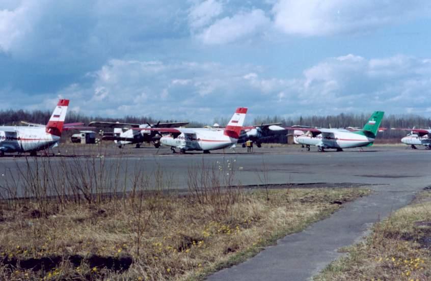 Вертолетный парк нарьян-марского авиаотряда состоит из вертолетов ми-8